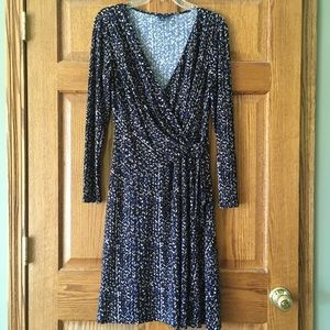 Chaps Long Sleeve Dress Large